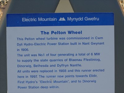 Pelton Wheel - Satellite Oddity - Llanberis, Wales.