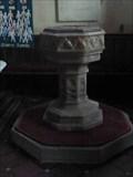 Image for Font, St Lawrence, Lindridge, Worcestershire, England