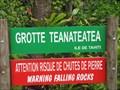 Image for La Grotte Teanateatea-Paea-Tahiti;Polynésie