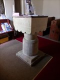 Image for Norman Font - Church of St Madoc - Llanmadoc, Wales.