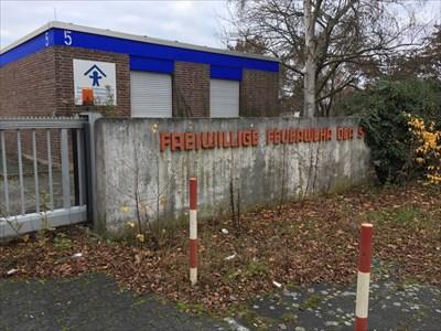 Schriftzug der  Freiwillige Feuerwehr der Stadt Bad Homburg