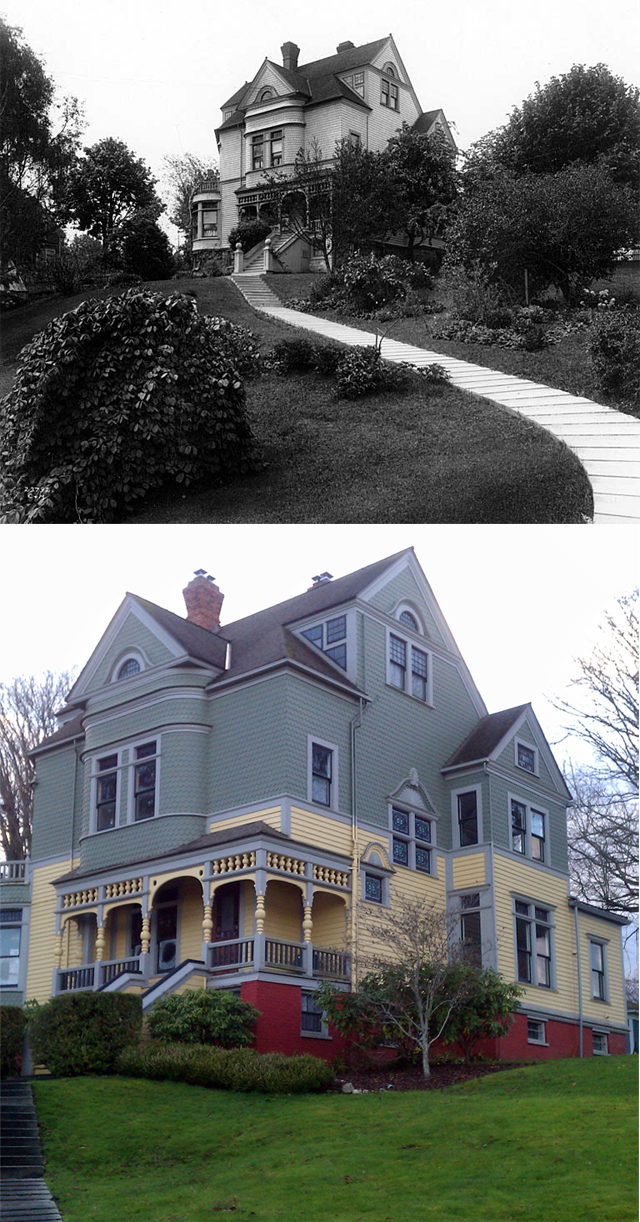 Walker Ames House Port Gamble Wa Photos Then And Now