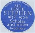 Image for Sir Leslie Stephen - Hyde Park Gate, London, UK