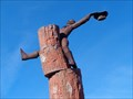 Image for Cowboy on Bucking Petrified Logs - Holbrook, Arizona, USA.