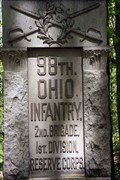Image for 98th Ohio Infantry Regiment Monument - Chickamauga National Military Park