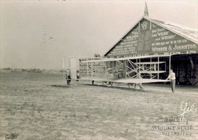 View of the hangar in 1910.