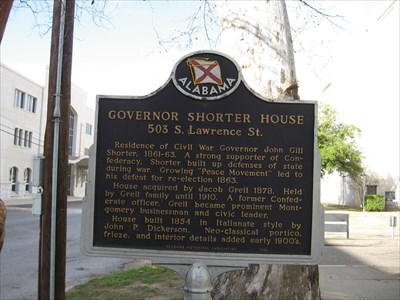 View of the historic marker.