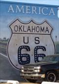 Image for Historic Route 66 - Crossroads of America Mural - El Reno, Oklahoma, USA.