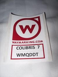 Colibris 7 et son Waymark personnelle.  Colibris 7 and personal Waymark.