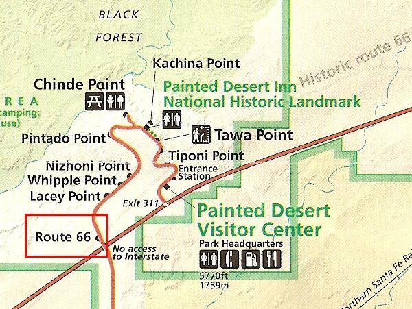 Painted Desert Map
