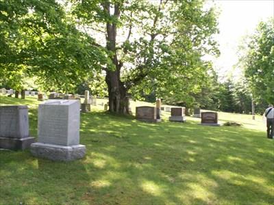 Le cimetière adjacent à l'église.