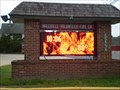 Image for Millville Fire Company Time and Temp Sign - Millville, Delaware