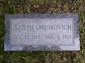 Image for 100 - Joseph Frank Oreskovich - Ashland WI USA