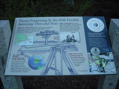 45th Parallel Marker - Perry Maine