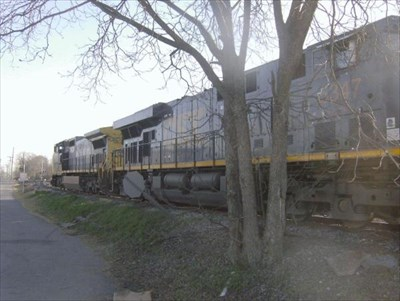 These are the engines sitting in front of the old depot.