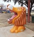 Image for Lion's Club Plaque and Lion - Burkburnett, TX