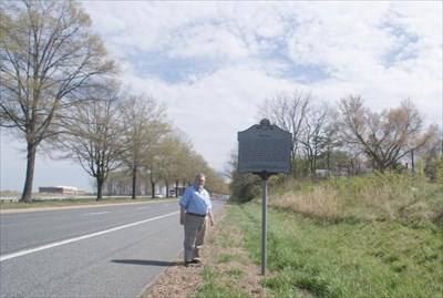geotrooperz-pp at the ENIAC historical marker near the Aberdeen Proving Ground gate on MD 22 in Harford County, Maryland