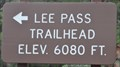 Image for Lee Pass Trailhead (North End) ~ Elevation 6080 feet
