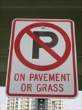 Image for No Parking on grass or pavement - Clearwater, FL