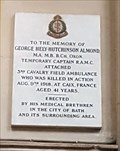 Image for Capt. George Hely-Hutchinson Almond - Bath Abbey - Bath, Somerset