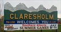 Image for Claresholm Welcome Sign  - 3,394 feet