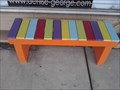 Image for Colored Slat-wood Bench - Harrison AR