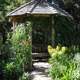 Twiggery gazebo at Reader Rock Garden