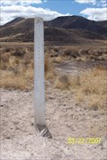 Image for BLM Pony Express trail marker