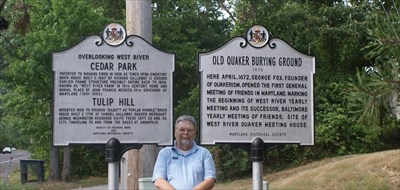 geotrooperz-pp at CEDAR PARK and TULIP HILL and OLD QUAKER BURYING GROUND historical markers