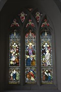 Image for Christ & Saints, St Mary's Church, Derwen, Corwen, Denbighshire, Wales, UK