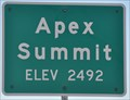 Image for Apex Summit ~ Elevation 2492 Feet
