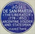 Image for Jose de San Martin - Park Road, London, UK