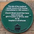 Image for Site of St Thomas Church, Great Malvern, Worcestershire, England