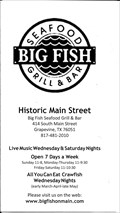 Image for Big Fish Seafood Grill & Bar - Grapevine, TX