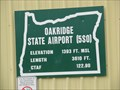 Image for Oakridge, OR State Airport - 1393'