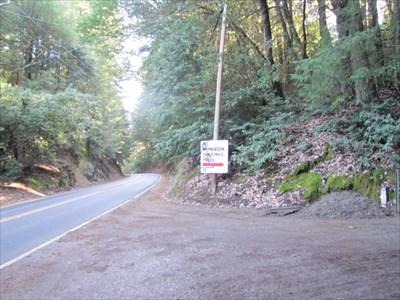 Road Turnff from highway 35, Santa Cruz County, CA