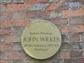 Image for John Wilkes - Brown Plaque, Aylesbury
