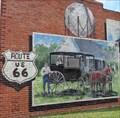 Image for Route 66 Mural - Davenport, Oklahoma, USA.