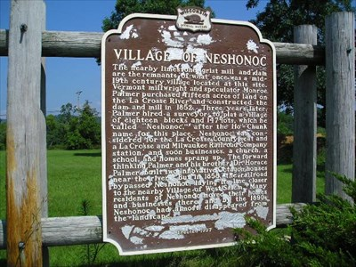 Village of Neshonoc Marker.