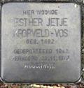 Image for Stolpersteine Esther Jetje Kropveld-Vos - Musselkanaal NL
