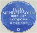 "Image for Felix Mendelssohn ""Stayed Here"" - Hobart Place, London, UK"