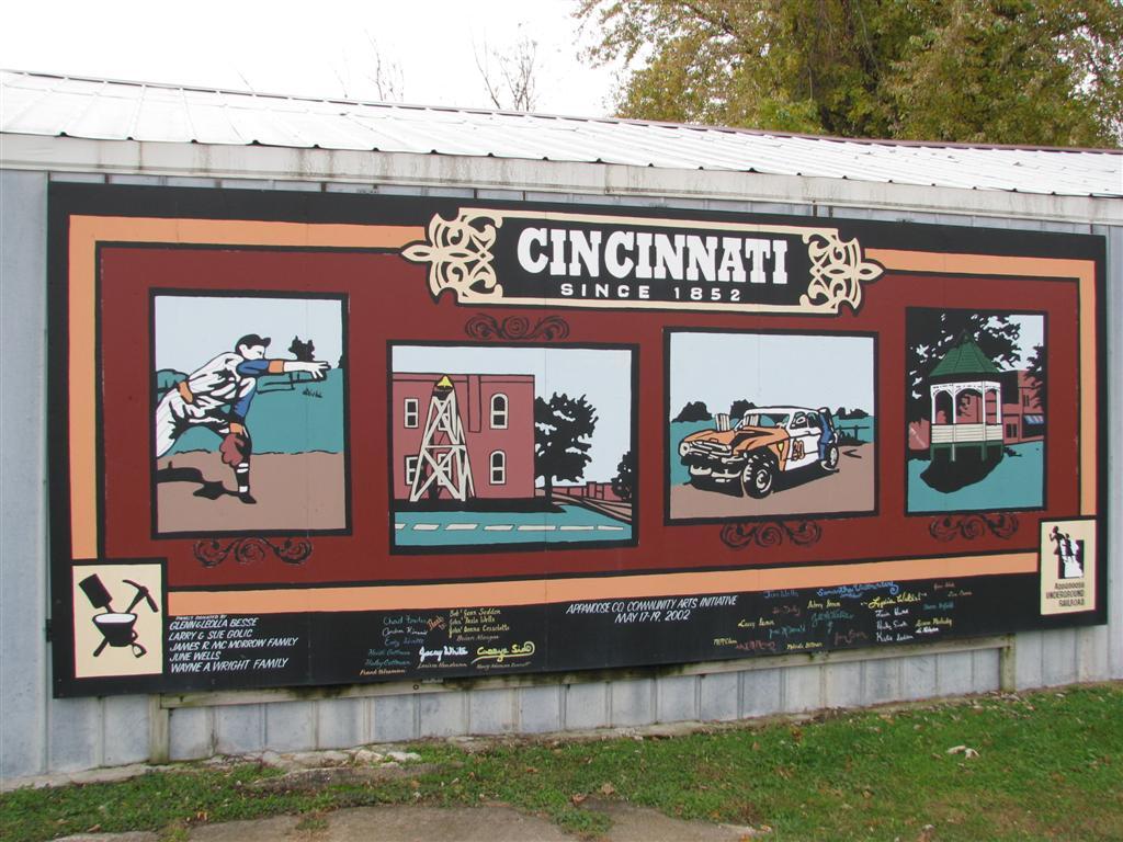 Cincinnati mural cincinnati iowa murals on for Cincinnatus mural