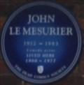 Image for John Le Mesurier - Barons Keep, Gliddon Road, London, UK