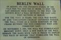 Image for Berlin Wall - Orlando, Florida, USA.