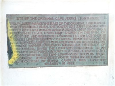 Close up of the Historical Marker, for the earlier Lighthouse, just a little south of the current one.1214, Tuesday, 29 May, 2018