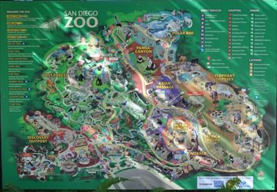 San Diego Zoo Reptile House You Are Here Maps On Waymarkingcom - San diego zoo map