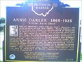 Image for Annie Oakley 1860-1926 - Marker # 2-19