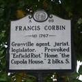 Image for Francis Corbin, Marker A-69