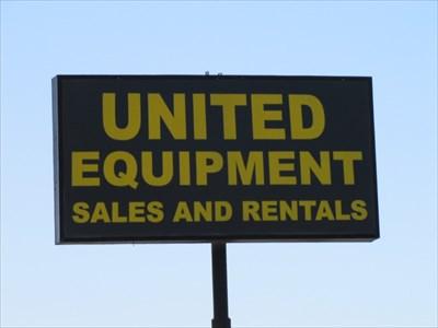 United Equipment Sign, Turlock, CA