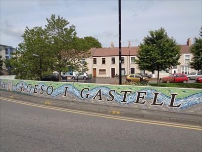 Croeso I Gastell Nedd - Mural
